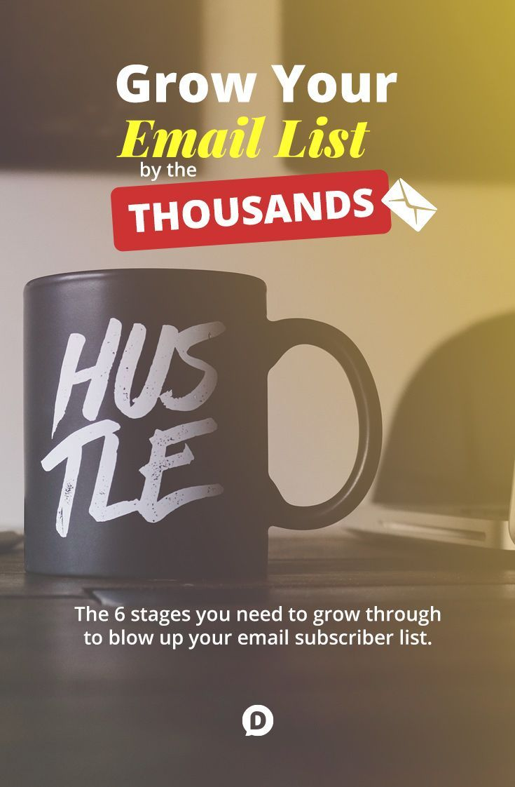 In this post you'll discover the six stages of growth that every blogger must go through when learning to build their email list. It shows exactly how I went from barely any subscribers to now adding over 1,000 new subscribers every month. https://dustn.tv/grow-email-list/?utm_campaign=coschedule&utm_source=pinterest&utm_medium=Dustin%20W.%20Stout&utm_content=How%20to%20Grow%20Your%20Email%20List%20by%20the%20Thousands