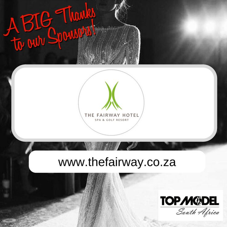Thanks to Fairway Hotel, Spa and Golf Resort for your sponsorship and for hosting the TOP MODEL UK, TOP MODEL WORLDWIDE Director and his wife, who are flying in from London, to be at our grand finale! We appreciate your support!  Visit them on www.thefairway.co.za #TMSA17 #TMSASponsor