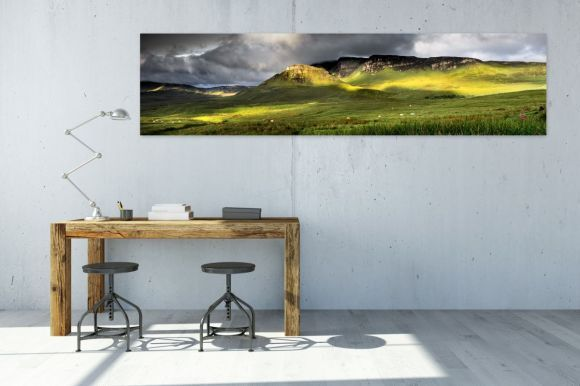 Trotternish Summer Greens - Panorama  Isle of Skye, Scottish Highlands