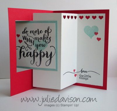 Julie's Stamping Spot -- Stampin' Up! Project Ideas Posted Daily: Control Freaks Blog Tour: Love is in the Air