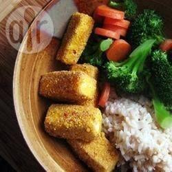 Tofu empanado frito @ allrecipes.com.br