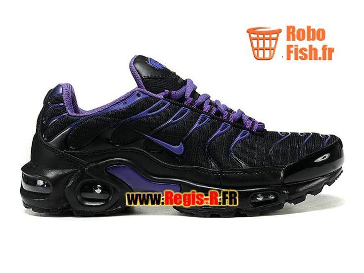 Nike Air Max Tn/Tuned Requin Mesh GS - Chaussures Nike Sportswear Pas Cher Pour Femme/Enfant Noir/Violet 604133-004G