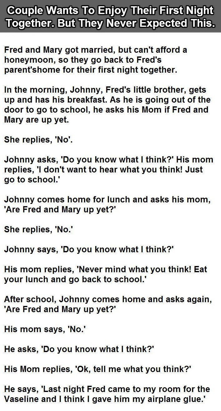 Uncategorized Lil Johnny Jokes 12 best something that makes me laughhappy images on pinterest couple wants to enjoy their first night together but never expected this funny jokes story lol
