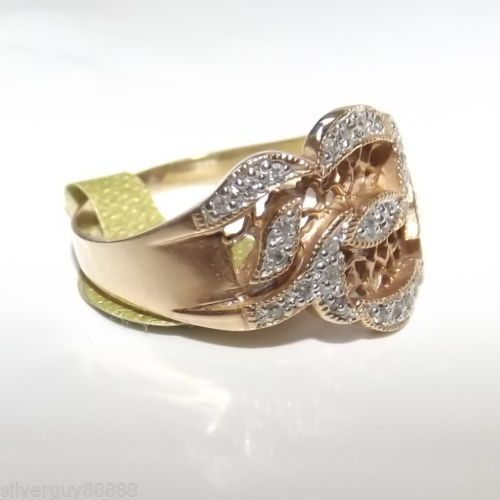9ct-Filigree-Gold-Diamond-Band-Ring