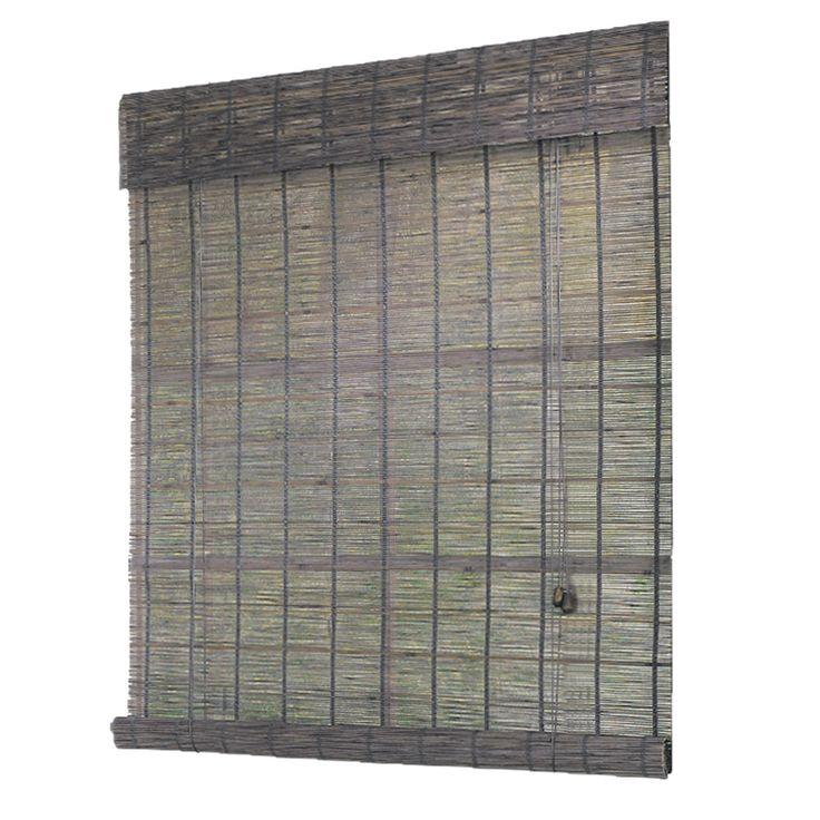 Natural Bamboo Grey Indoor Outdoor Roll Up Shade Bamboo