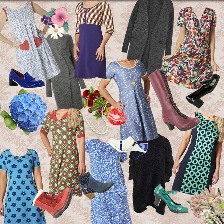 Sammensæt dine sommerkjoler med lange cardigans, grove kabel-strømper og lange støvler #duMilde #efterårsklar