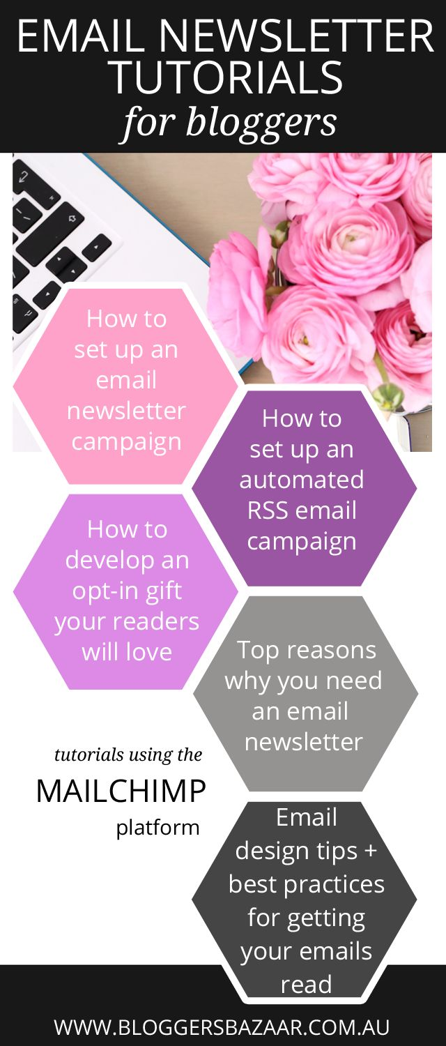 A roundup of very helpful email newsletter tutorials using Mailchimp plus some helpful tips, tricks and best practice for email campaigns