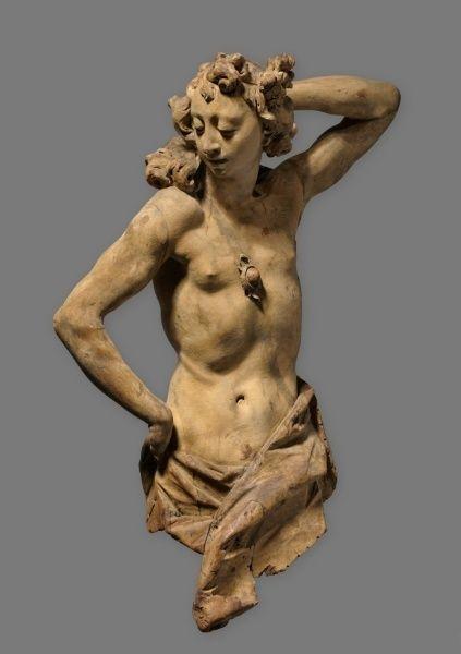 Cleveland. Figure Homme, c. 1760 Franz Ignaz Günther (allemand, 1725-1775) tilleul, ensemble - h: 95,25 w: 65,40 d: 31,75 cm