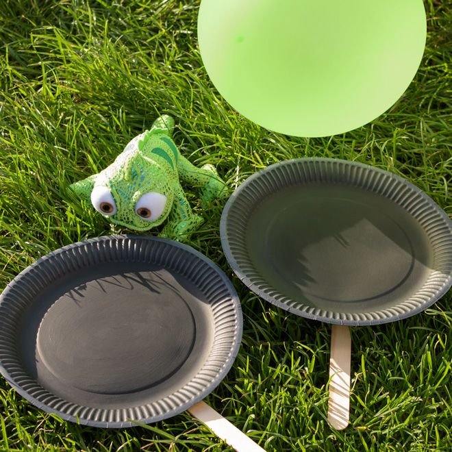 Are your kids as handy as Rapunzel with a frying pan? Find out in this fun game of Tangled Frying Pan Tennis!