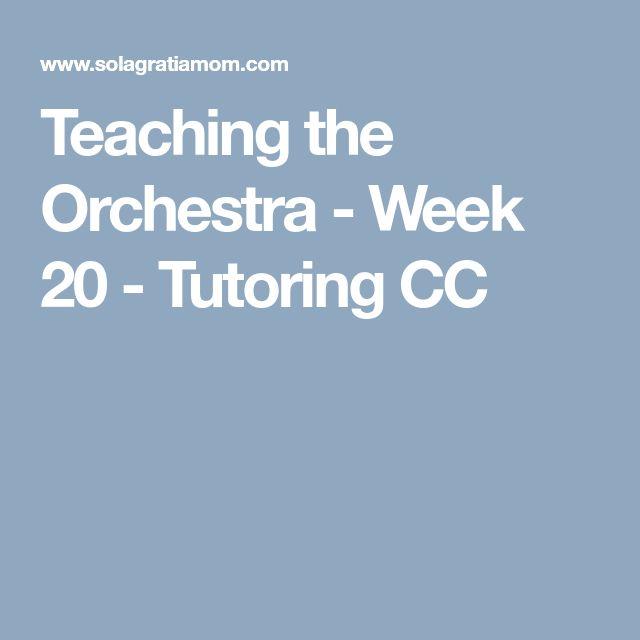 Teaching the Orchestra - Week 20 - Tutoring CC