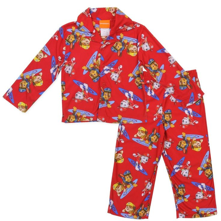 Color Red Sizes 2T 3T 4T Flame Resistant Material Made From 100% Polyester Brand Nick Jr Paw Patrol