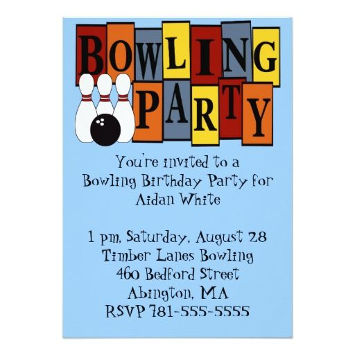 1381 best Bowling birthday ideas images on Pinterest Anniversary - bowling invitation template