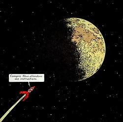 verslinfini: Hergé, On a marché sur la lune, 1954 • Tintin, Herge j'aime