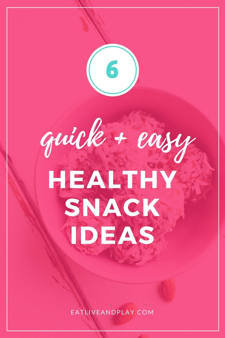 Craving something to nibble on in between meals? These 6 healthy snack ideas will keep you full and energized in between meals to help you power through your work day!