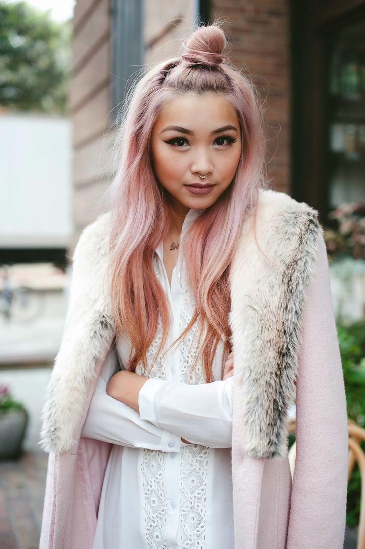 Rose quartz hair with francis lola: Blushing.