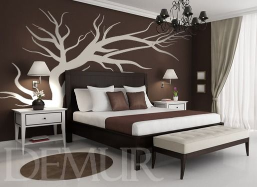 Drewniana (w)plecionka - Drzewa - Naklejka na ścianę - Demur