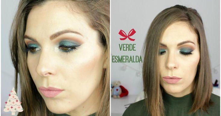 Maquillaje verde esmeralda, ¡una idea perfecta para Navidad!