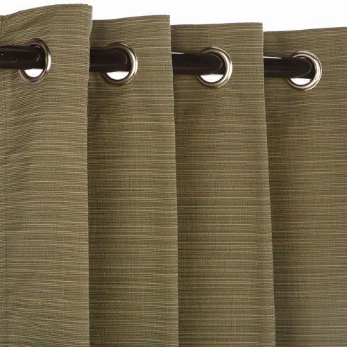 Sunbrella Curtain with Grommets Curtain Nickel