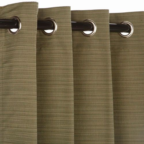 Sunbrella Curtain with Grommets Curtain Nickel