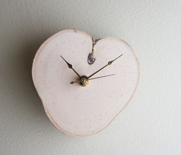 Relax White Birch Clock