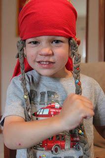 Kara's Creative Place: RRRRRrrrrrr A No-Sew Jack Sparrow Wig.