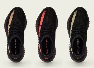 STORE LIST FOR THE COPPER, RED & GREEN COLORWAYS OF THE ADIDAS YEEZY BOOST 350 V2