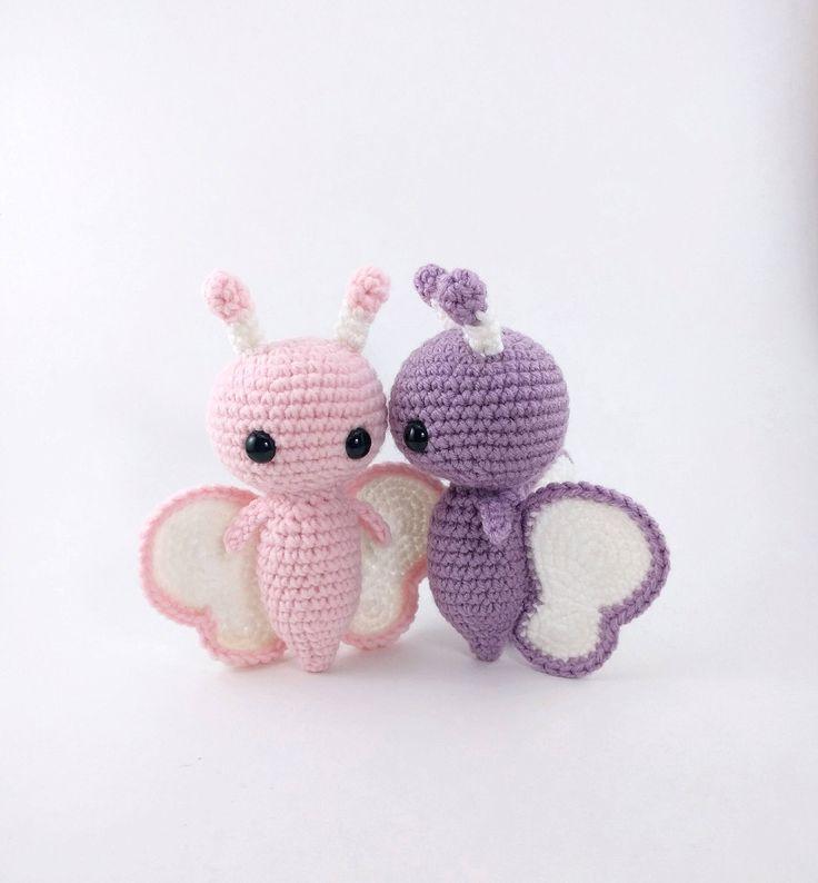 PATTERN: Crochet butterfly pattern - amigurumi butterfly pattern - crocheted butterflies pattern - butterfly amigurumi - PDF crochet pattern by TheresasCrochetShop on Etsy https://www.etsy.com/listing/551289677/pattern-crochet-butterfly-pattern