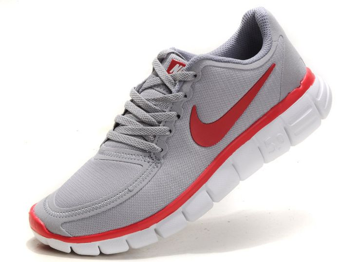 Womens Nike Free 5.0 V4 Shoes Grey Red