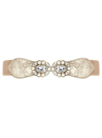 Dorothy Perkins, Cream pearl cluster waist belt