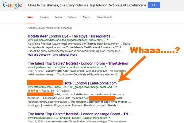 Secret hotel revealed through Google search