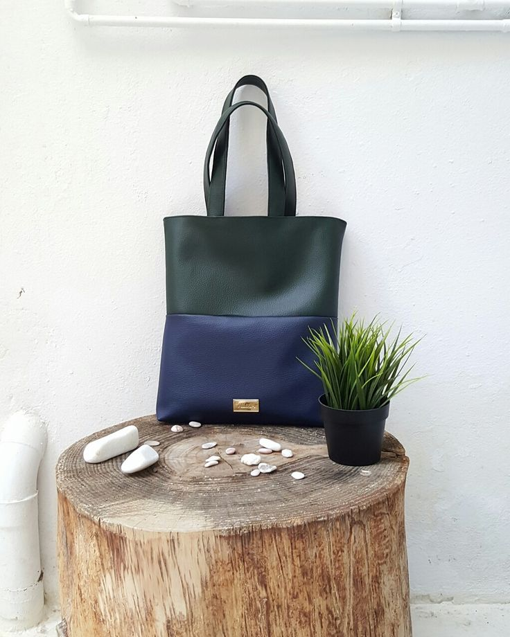 Featuring the vegan minimalist blue-green tote bag. Shop at http://vilmaboutique.com .
