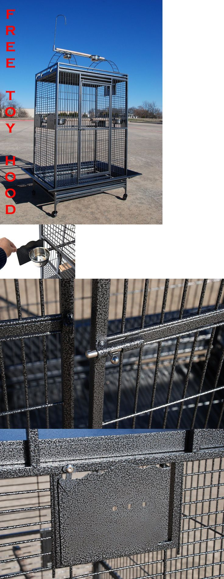 Cages 46289: Extra Large Parrot Cage For Macaw Cockatoo African Grey Amazon 32X23x66h -258 -> BUY IT NOW ONLY: $265.89 on eBay!