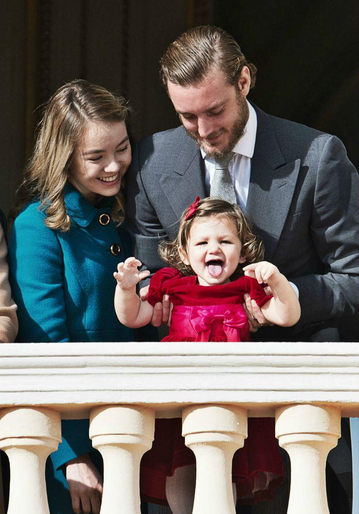 "andreacasiraghi: ""19 November 2016 Monaco National Day 2016 "" Princess Alexandra of Hanover, India Casiraghi, Pierre Casiraghi"