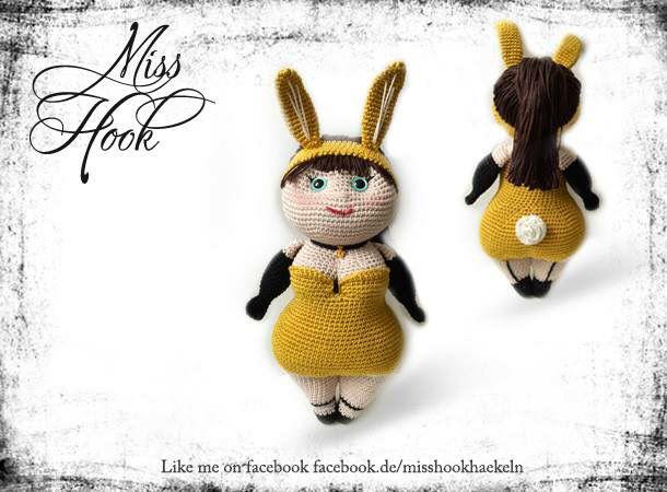 Crochet doll pattern Miss Honey Bunny // Miss Hook   Like me on Facebook...  http://facebook.de/misshookhaekeln  Häkelanleitung Puppe eBook