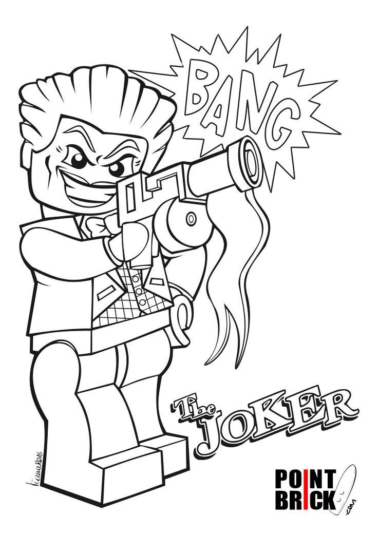 Disegni da Colorare LEGO DC Comics Super Heroes - The Joker - Clicca sull'immagine per scaricarla gratuitamente
