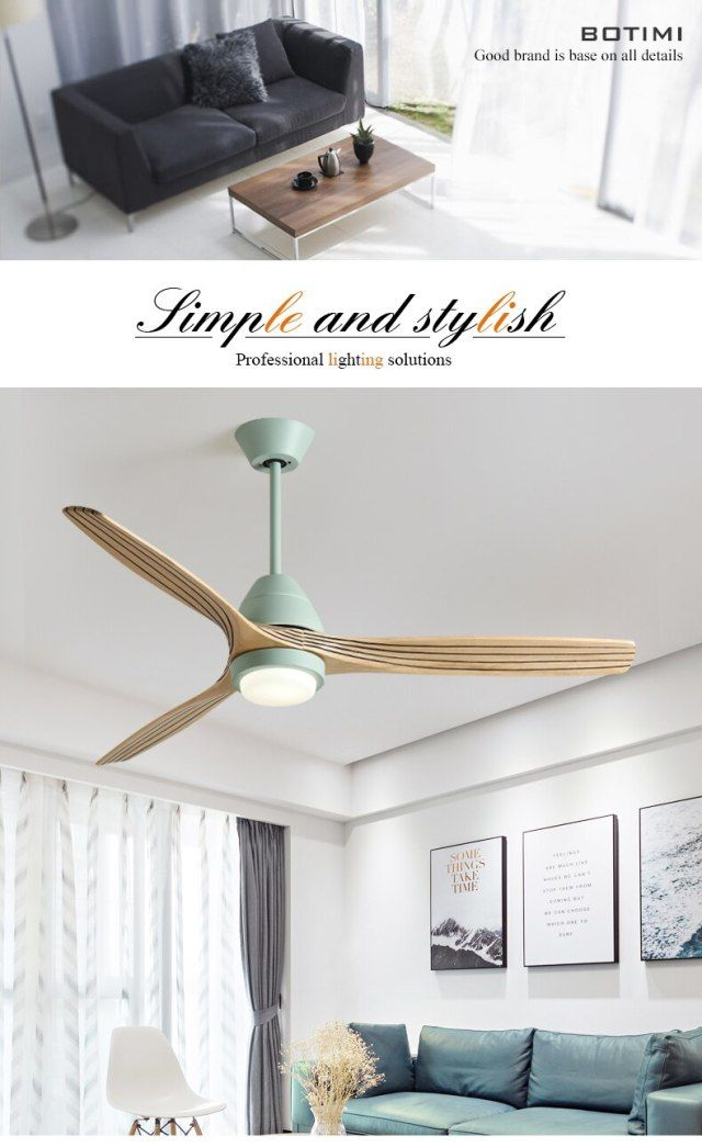 Botimi 220v Reversal Fuction 52 Inch Led Ceiling Fan With Lights