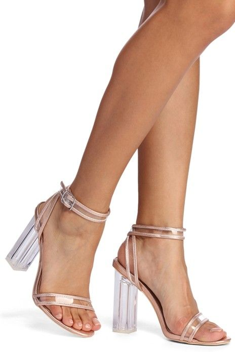 45348e341332 Clearly For You Block Heels in 2019