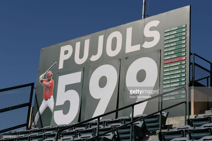 Los Angeles Angels of Anaheim Designated hitter Albert Pujols (5) sits on 599 career home runs before an MLB game between the Minnesota Twins and the Los Angeles Angels of Anaheim on June 3, 2017 at Angel Stadium of Anaheim in Anaheim, CA.