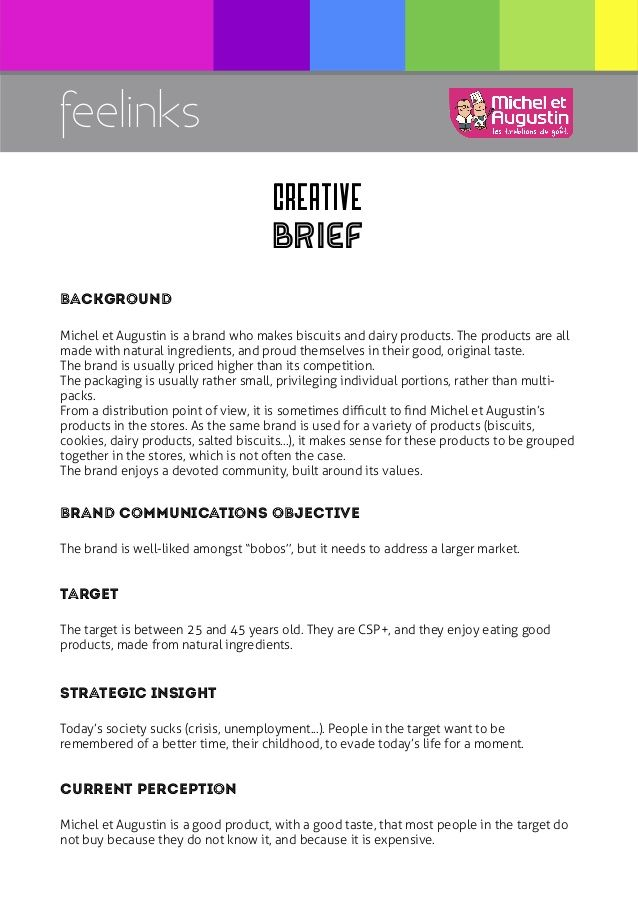 writing a creative brief training How to write a great creative brief 2 it's probably because they can be a pain in the neck although a creative brief must adapt to suit the requirements of a particular assignment, there are questions that have to be answered every time.