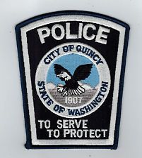 Quincy Police patch  Washington