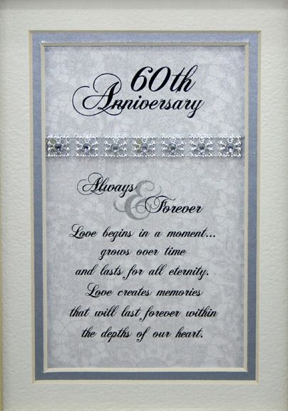 Parents 60th Wedding Anniversary Poems | anniversary gifts 50th anniversary gifts 60th anniversary gifts more ...