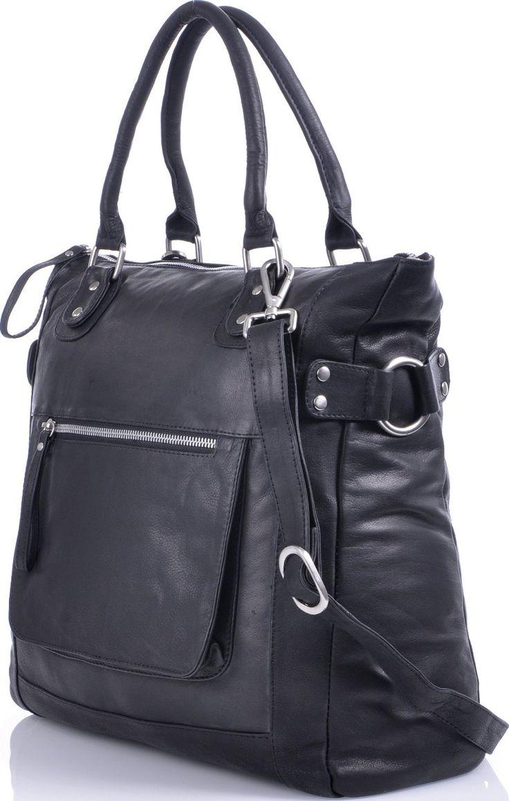 MASQUENADA, Contemporary, Genuine Leather, XL Shopper for Women, Tote Bags, Shoulder Bags, Handbags, in A4 format, Black, 34x37x10cm (H x W x D): Amazon.co.uk: Shoes & Bags
