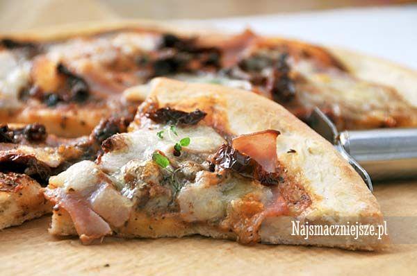 Pizza z suszonymi pomidorami, pizza, sos pomidorowy, najsmaczniejsze.pl