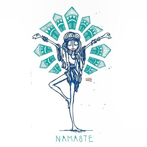 Imagen de namaste, yoga, and drawing