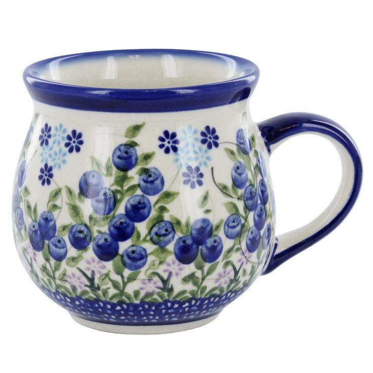 Polish Pottery Blueberry Bubble Mug