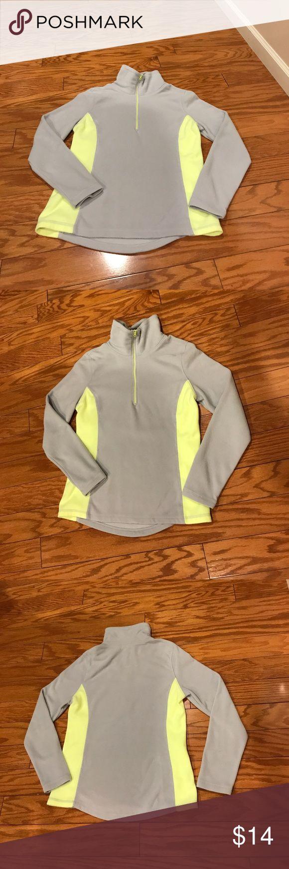 ✂️price drop✂️Old Navy fleece - XS Grey and yellow Old Navy half zip fleece. Gently worn, in great condition. Old Navy Tops Sweatshirts & Hoodies