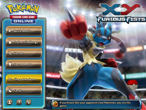 Pokémon TCG Online is available on iPad and iPad mini for free with additional in-game purchases which include booster packs and complete decks.