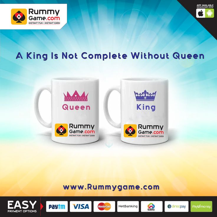 A #King is not complete with out #Queen Play #Rummy online at www.Rummygame.com #indianrummy #13cards