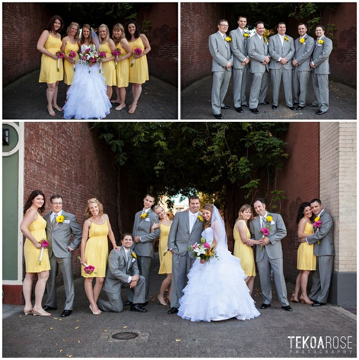 Bride And Groom Only Wedding Ideas: Wedding, Bride And Groom, Bridal Party, Yellow Bridesmaid