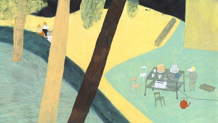 Illustration from 'Alla går iväg' (Everyone walks away) by Eva Lindström